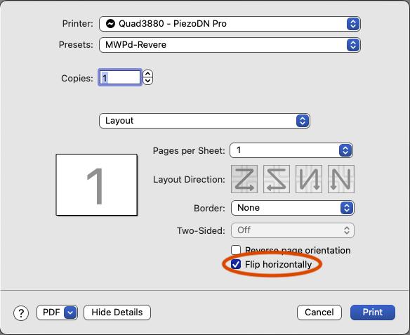 P-T Print Dialog Layout